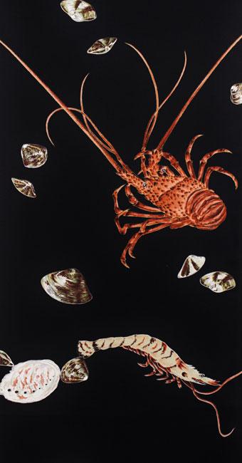 海老に貝:黒